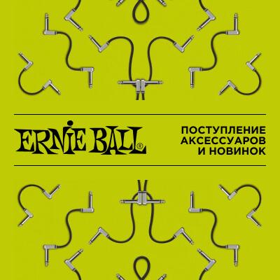 Поступление аксессуаров и новинок ERNIE BALL