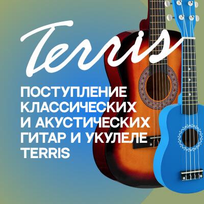 Поступление классических и акустических гитар и укулеле Terris